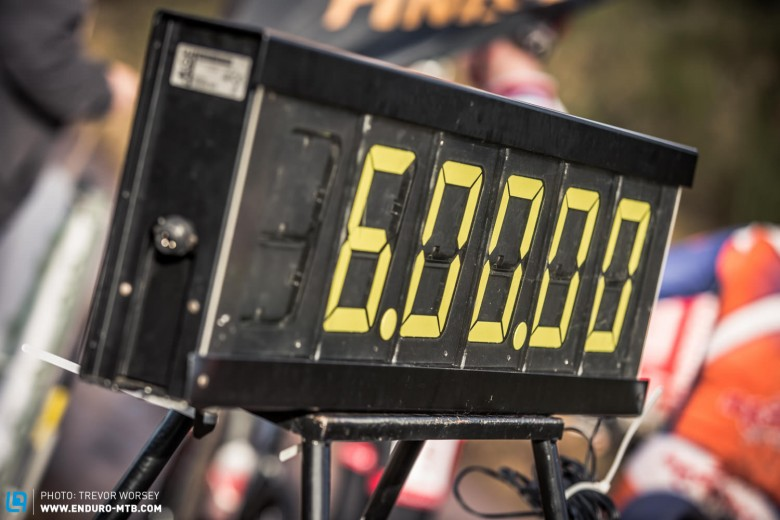 The clock sits ready to start, 6 hours of intense racing were about to begin