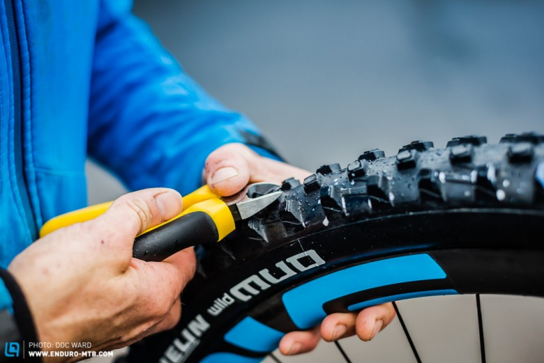 Tyre cutting for ultimate grip.