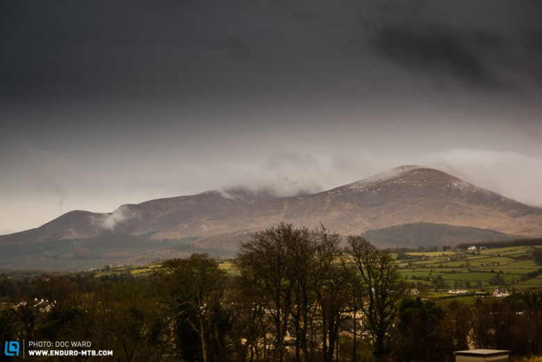 Snow capped Mourne Mountains.