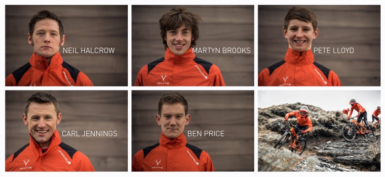 The lineup - the team have already taken podums at UKGE, EWS and Trans Savoie races. 2015 will be a big year