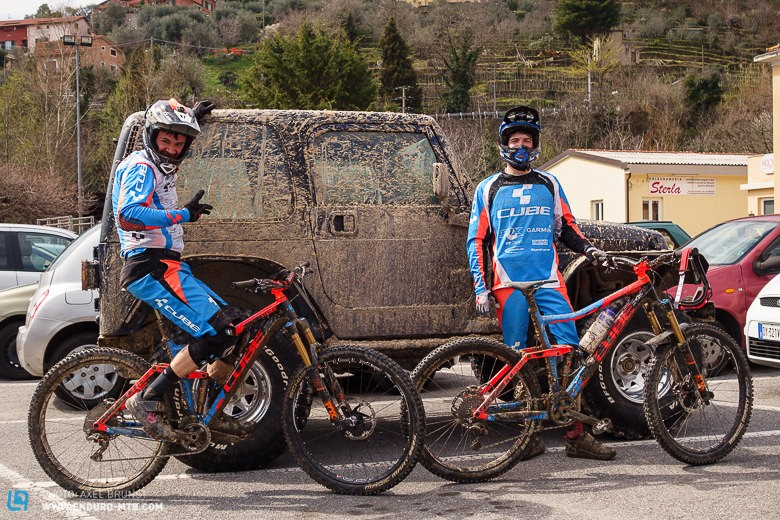 Ludwig Döhl and André Wagenknecht with their CUBE Stereos at the BDR-Training camp in Finale Ligure.