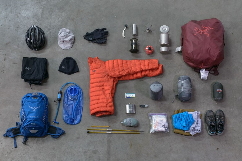 The Bikes packed with the belongings of the adventurers weighed about 45+ lbs each.