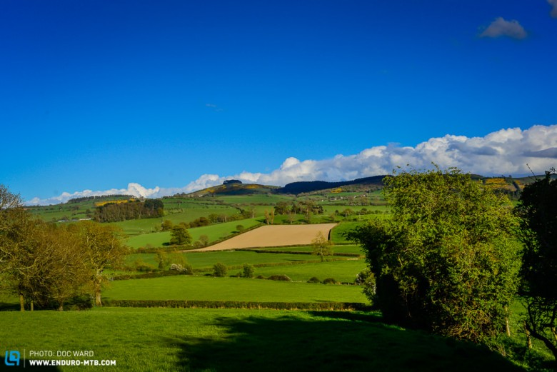 Steve now has views of the Shropshire hills.