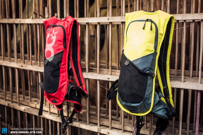The new EVOC CC 3L Race comes in various colours with a 2-litre bladder. It retails at 90 €.