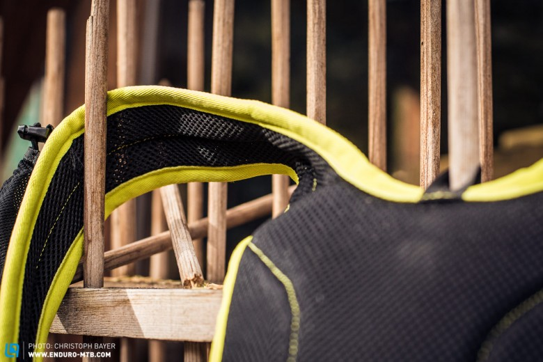 The straps are made from exceptionally breathable material.