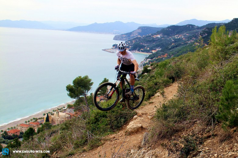 The fast trails of Finale Ligure provide the perfect training ground