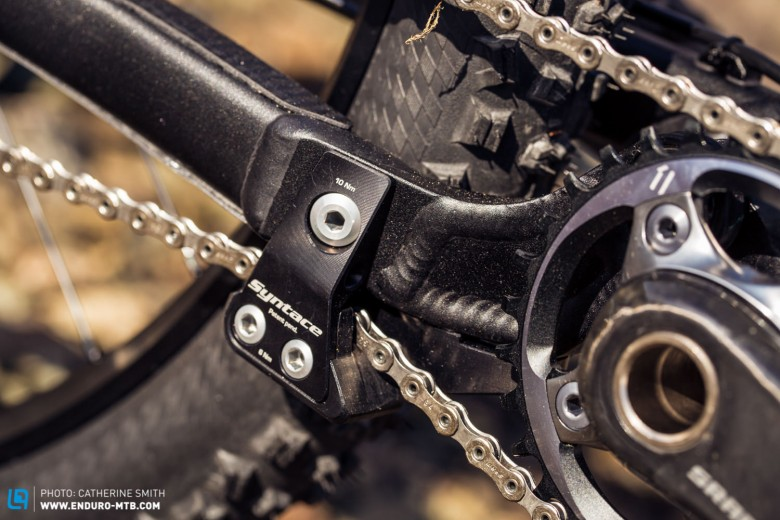 The integrated chain guide is a nice touch on the Enduro Edition