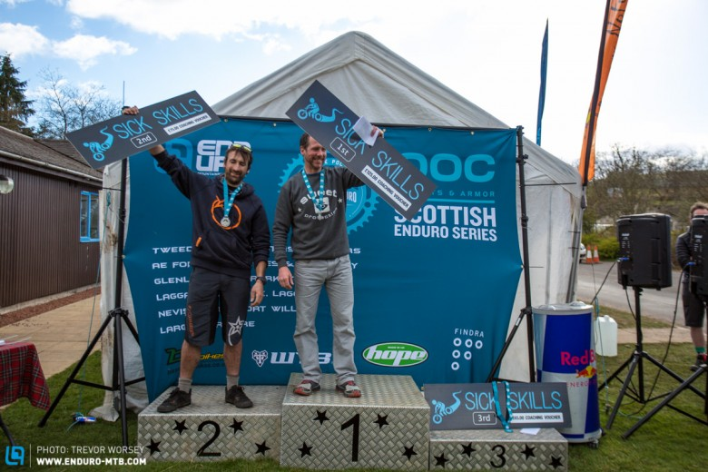 Vet Men's Category Podium, 1st Crawford Carrick Anderson, 2nd Dan Greenwood, 3rd Mark Horner. The big question is what's left to teach crawfy, it will be a tough gig for Sick Skilz