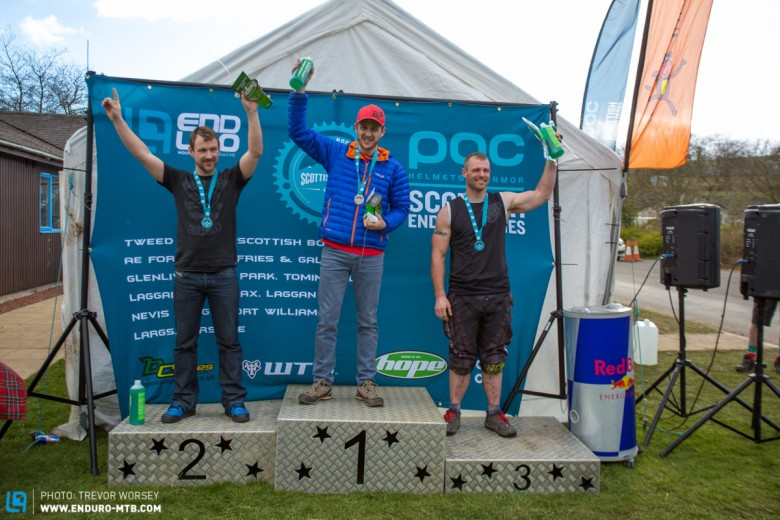 Masters Category Podium, 1st Bruce McCleary, 2nd Chris Ross, 3rd Michael Clyne Had this been an arm wrestling contest the results may be been different.