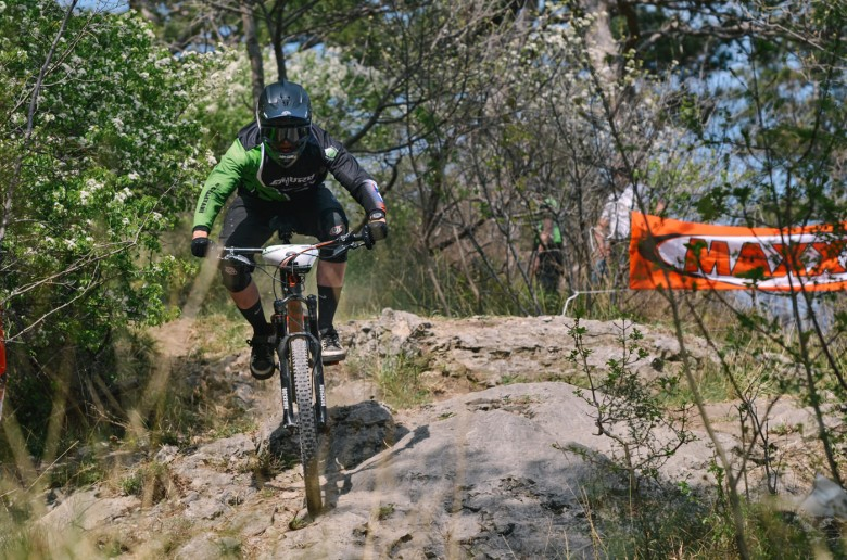 Peter Mlinar on Maxxis super stage, Which was one by Persak