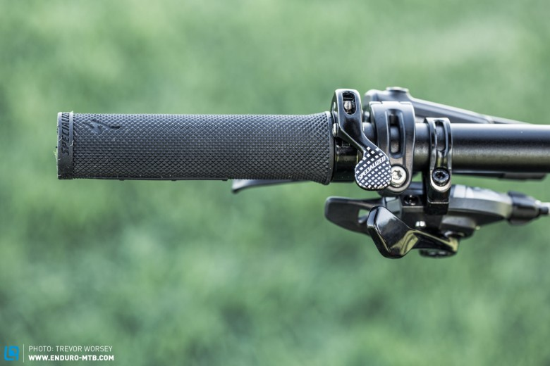 or if you have a front shifter you can opt for the top mounted lever for a clean cockpit