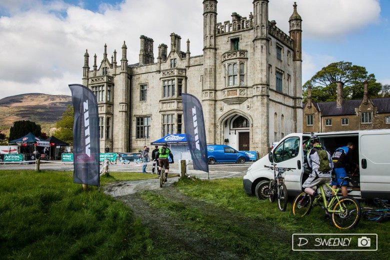 """""""The main castle is a Tudor-Revival mansion built around 1836. Who said mountain bikers knew nothing about history…"""""""