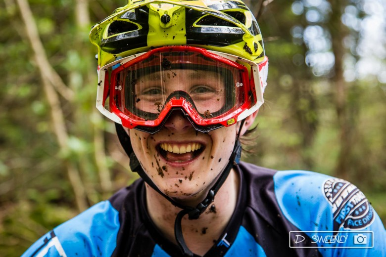 Happy bikers. The rain may have been around, but smiles were had all round at the mud fest.