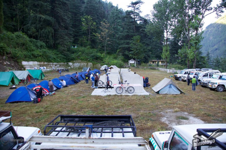 Camping under the stars in the Himalaya's seems ideal...if you can handle the riding to get to each campsite.