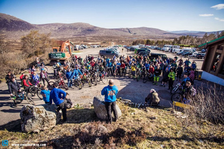 Over 100 excited rider were keen to test their nerve on the blind stages