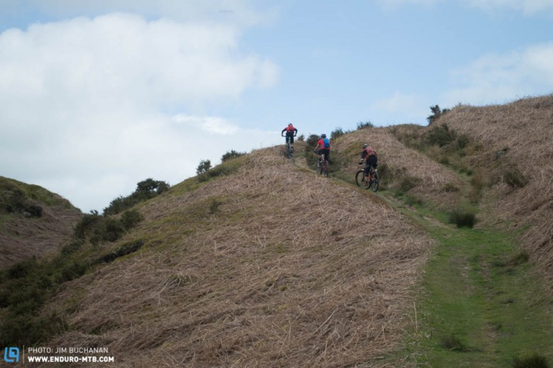 The climb from Ruabon up over the mountain starts off with lots of deceiving false summits.