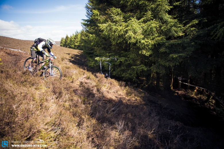 Into the dark, rider sstruggled with the transition from bright light to dark forest