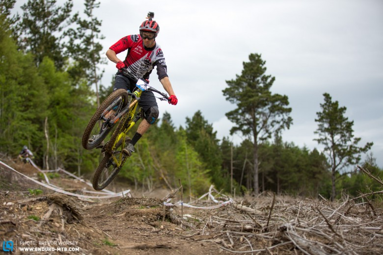 The super fun trails had everyone playing about, Florian boosts one for the camera
