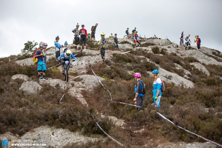 The top of Stage 2 was the place to be for line scoping, a naughty, chunky affair