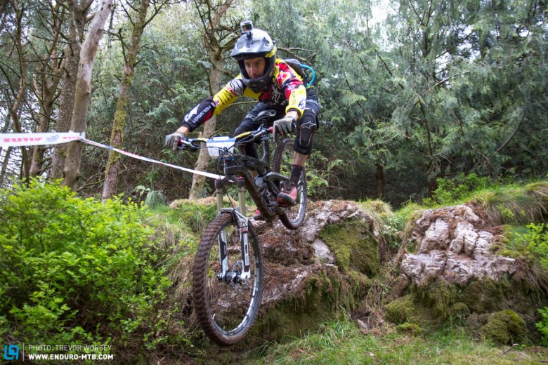 DH shredder Andrew Neeithling is having a crack at enduro - he looked fast