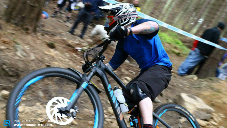 Coop ripped on the day, back on his Canyon, taking 8th Elite, beating proper fast Pro riders!