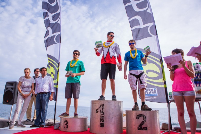 Podium Individual, 1st place Dobromir Dobrev winner of the _Enduro do Mediterraneo_ the week before held in Greece