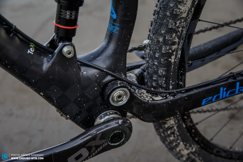 TeXtreme carbon technology, which once lived within the company's FRD (Felt Racing Development) line of bikes, has made its way down to the Edict 1.