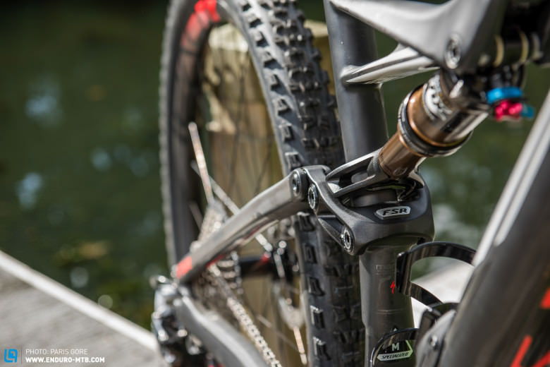 Specialized have removed the seatstay bridge to facilitate the short rear end