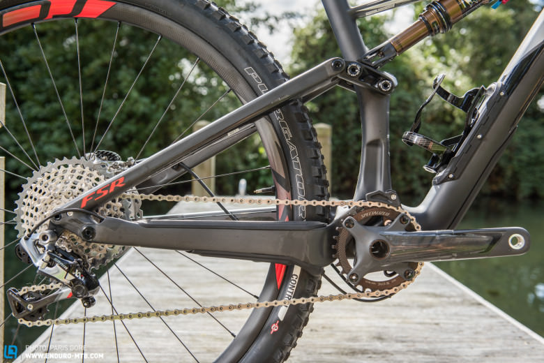 The shock extension has been beefed up to improve stiffness