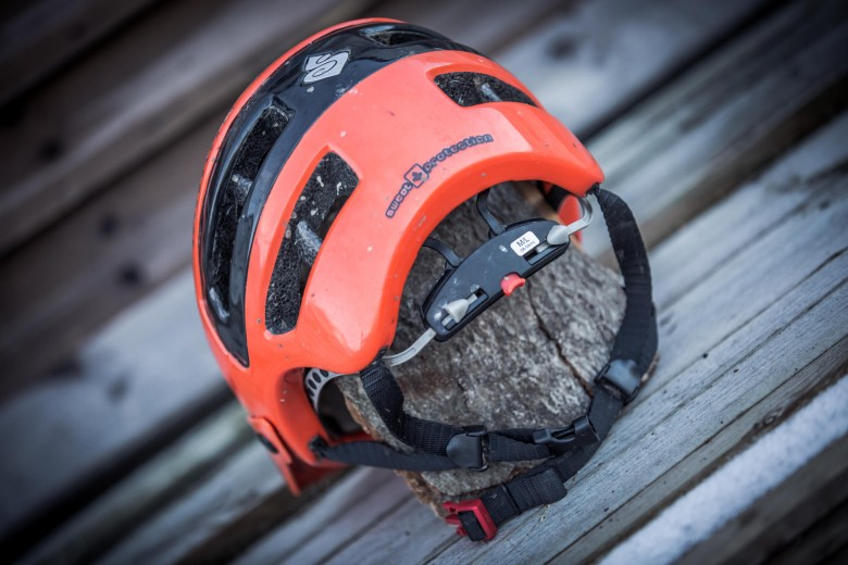 """""""Vent positions makes it easy to affix most helmet-mounted lights to the shell."""""""
