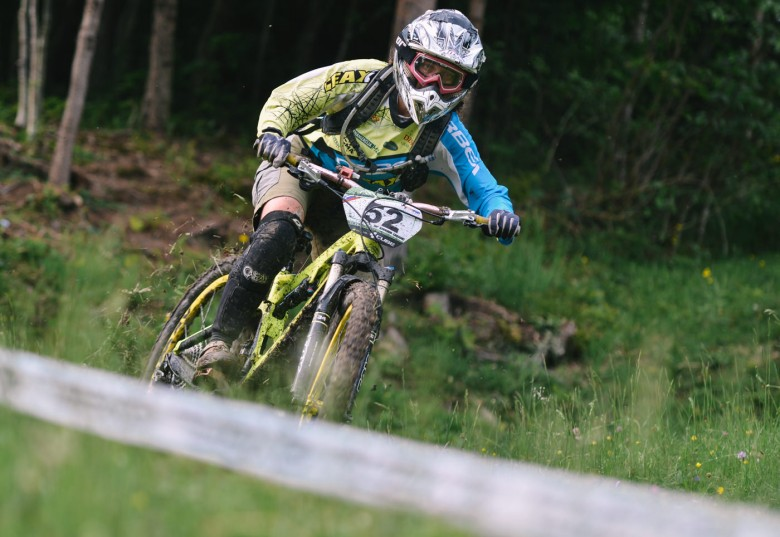 Kristijan Medvešček is competing as an individual rider with no team, but his not any slower.