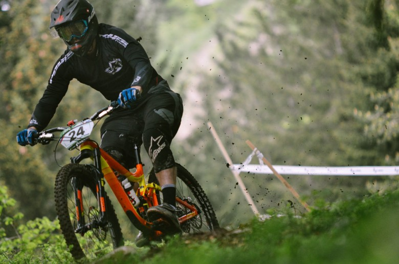 Andrej Bratina on his way to third spot in overall. He finished second in man's category