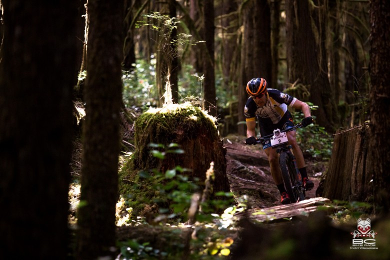 In the lead before the missed turn, Spencer Paxson had the trail bending to his will.