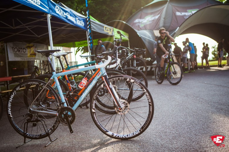 A showcase of bikes from manufacturers allowed an exhibition of both cyclocross and road bikes