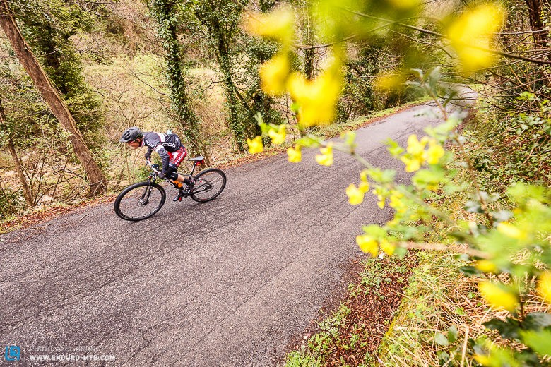 Base fitness is essential for enduro racing, so clipping into a road bike to hammer in some miles is unfortunately one thing that has to be done.