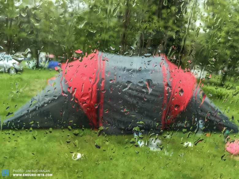 Camping and rain, two words that shouldn't be in the same sentence!