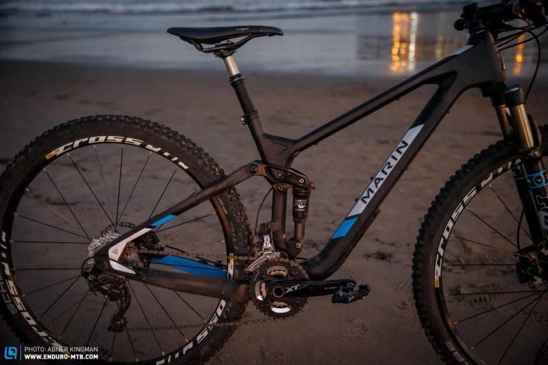 For acceleration and deceleration duties, Marin have chosen the reliable and high-performance Shimano XT groupset.