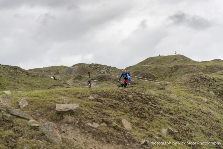 Typical British weather shrouded the start of the PMBA Enduro, but luckily stayed clear