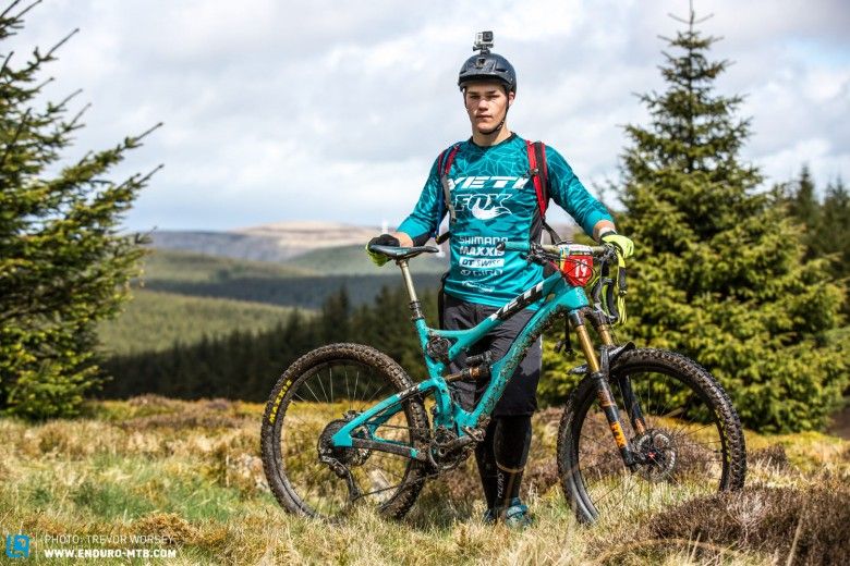 Richie Rude and his trusted Yeti SB5C at Tweedlove in Scotland.