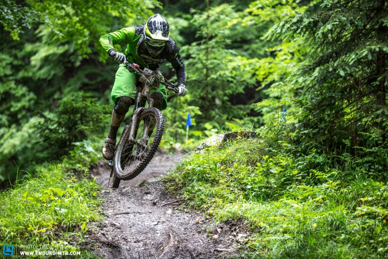 Fully pinned down the Lisi Osl Trail, Named after the overall winner of the MTB Cross Country Worldcup