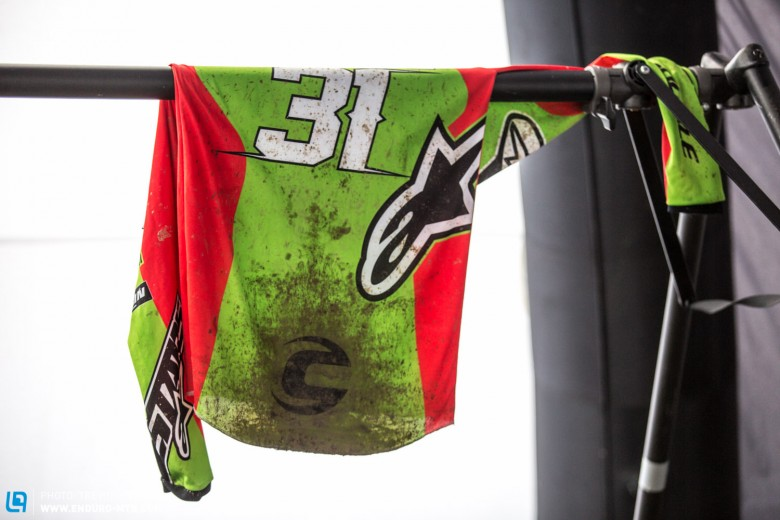 Many riders changed their kit between stages Three and Four, nobody liked claggy jerseys