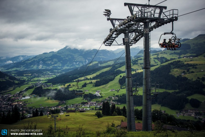 Kirchberg provided an amazing backdrop for the days racing