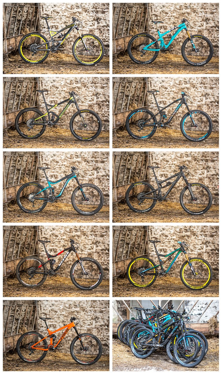 The test bikes, a collection of the finest machines available