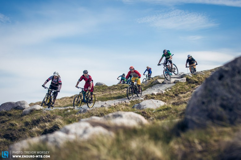 Ten riders made up the test team, from seasoned World Cup downhillers to experienced testers