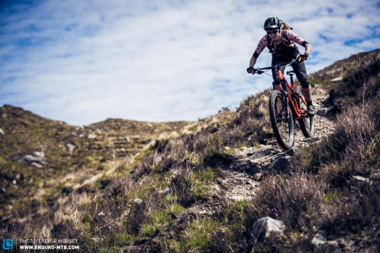 The bikes faced endless rocky trails