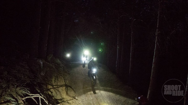 A 'special/fun' night ride took place on the Saturday...