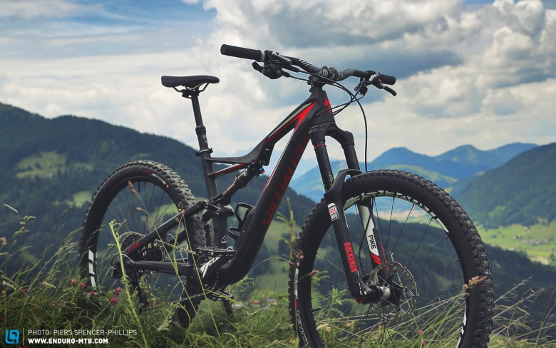 The Rock Shox Pike fork is already a classic, and comes in 150mm size on this bike. It would be interesting to try it with a 160mm Pike.