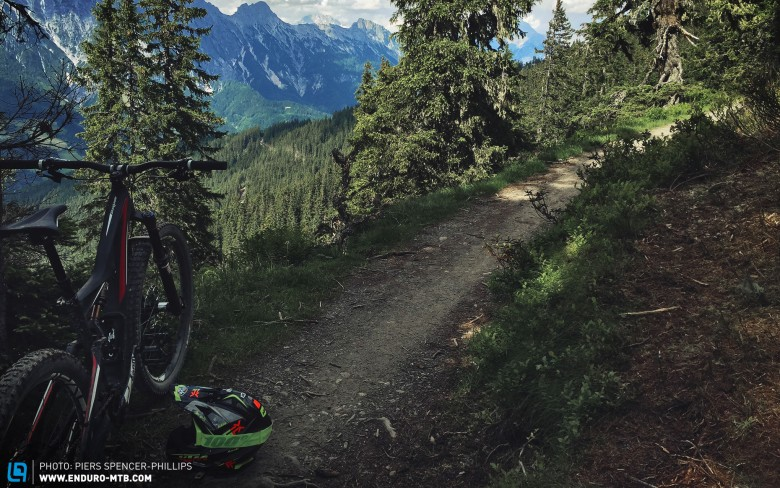 The bike is completely at home on singletrack, but how it handles the demands of the up's and extreme downs of the Austrian mountain will be discovered and documented during the course of this test.