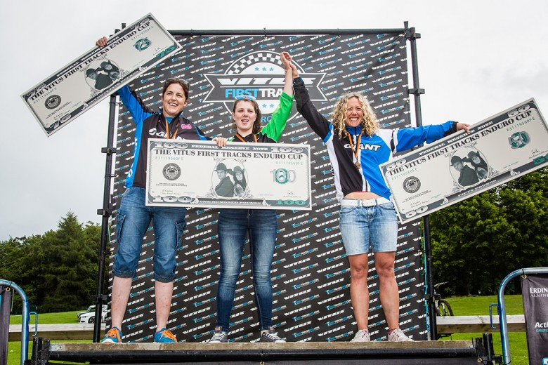 Leah Maunsell, Orla McClean and Sophie Bagnall took to the podium for the Women.