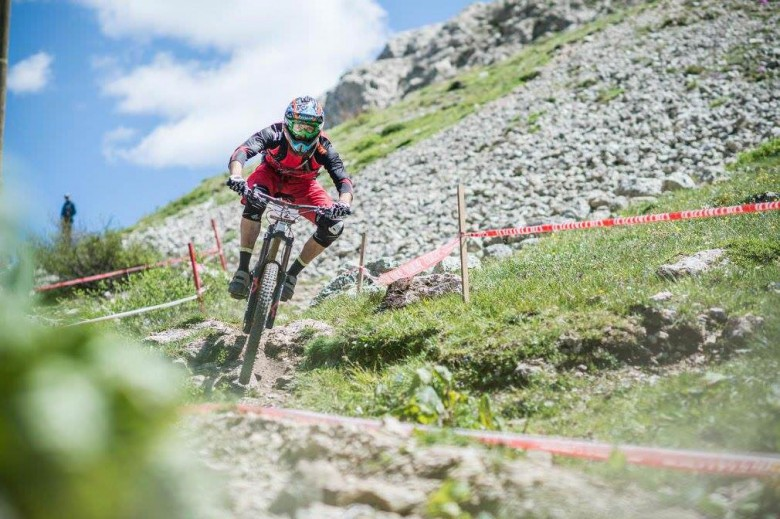 Alex gritted his teeth and fought through all the specials at the Italian Enduro Championship race in Canazei, Trentino.